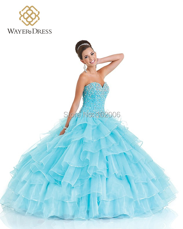 Popular Light Blue Puffy Quinceanera Dresses-Buy Cheap Light Blue ...