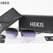 HEKIS Brand Mirror Sunglasses Metal Sunglasses Men Sun Glasses Driving Mirror Goggle Eyewear Male Accessories B2744
