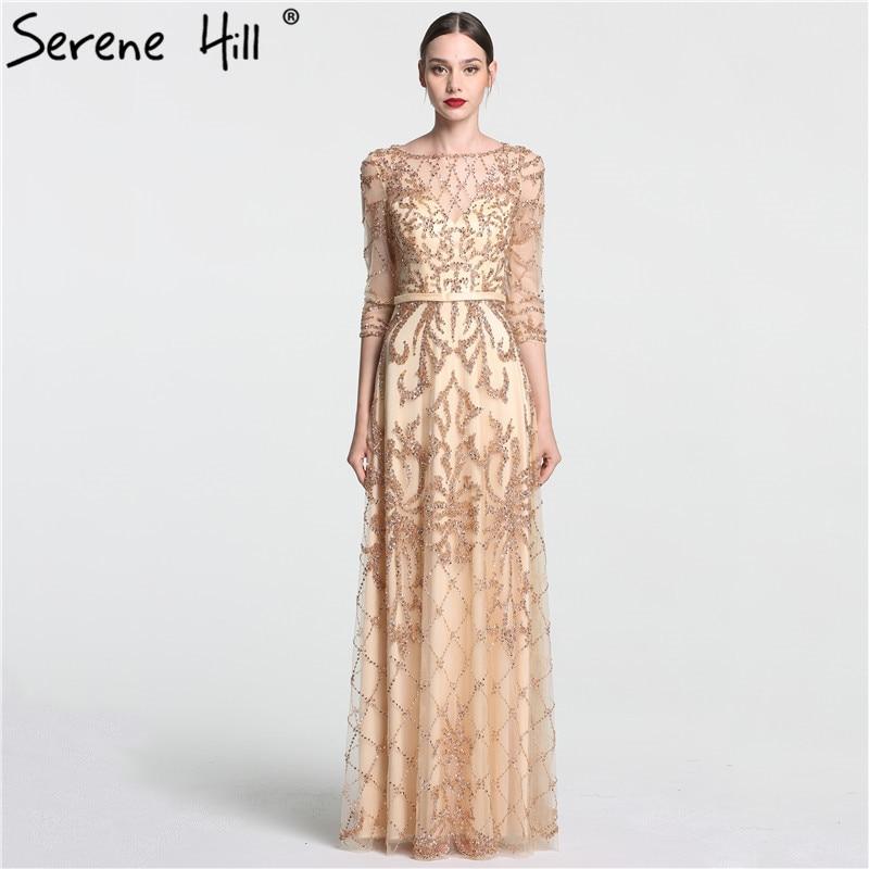 2018 New Style Dubai Long Sleeve Mermaid Evening Dresses Luxury ...