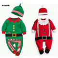 Brand Children Christmas Clothing Baby Jumpsuits Rompers Long Sleeve Santa Claus Costume For Baby Winter Infant Romper+Hat