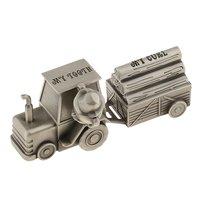 Alloy Train Design Baby Keepsake Milk Tooth Box First Curl Teeth Storage Box Organizer Case Kids Souvenir Gift for Baby Shower