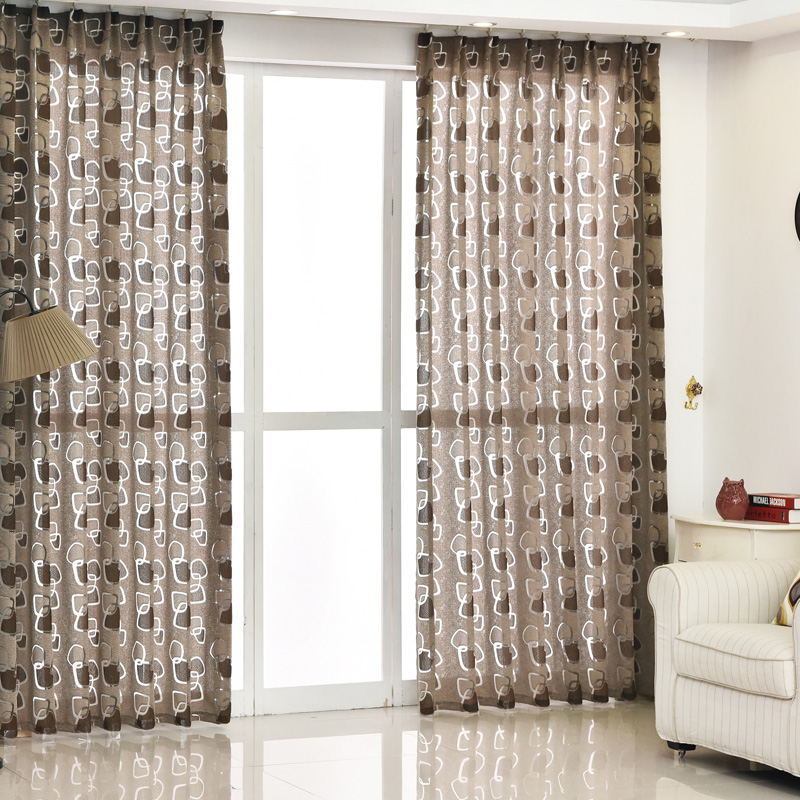 US $5.66 52% OFF|Modern curtain geometric design living room curtains  fabric black green ready made curtain window treatments brand new  kitchen-in ...