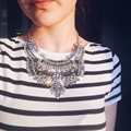 2015 Big Women Collier Femme Necklace Pendant Collar Statement Bijoux Fashion Female Crystal Jewelry Choker Maxi Boho Vintage