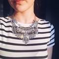 2015 Grandes Mujeres Collier Femme Bijoux Moda Mujer Joyas de Cristal Collar Colgante de Collar de la Declaración Gargantilla Boho Maxi de La Vendimia