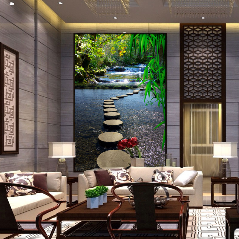 3d custom photo wallpaper wall murals wall modern Living room entrance Landscape path water print textile wallpapers custom photo wallpaper 3d wall murals balloon shell seagull wallpapers landscape murals wall paper for living room 3d wall mural
