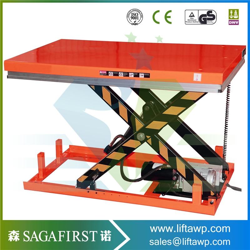 1ton 2ton 4ton Pallet Lifter Stationary Hydraulic Scissor Lift Table