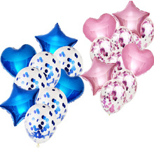 10Pcs18/12Inch Mixed Foil Love Pentagram Confetti Balloon Latex  Birthday Decorations Balloons Wedding Babyshower Party Supplies kalaisike linen universal car seat covers for haval all models h1 h2 h5 h6 h3 h7 m6 h8 h9 car styling auto accessories