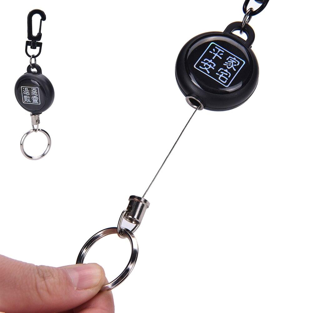 1 Stks Hoge Sterkte Stalen Pull Sleutelhanger Tag Kaarthouder Terugslag Riem Metalen Badge Retractable Reel Id Badge Houders