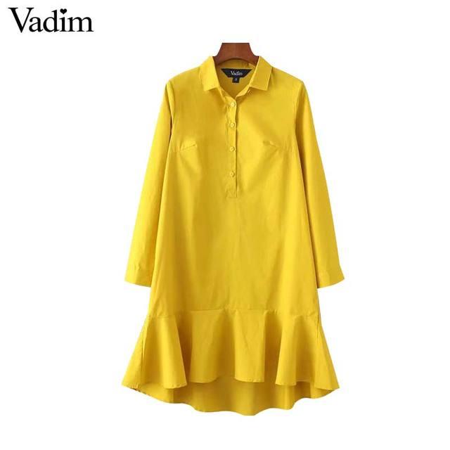 Kleid langarm gelb
