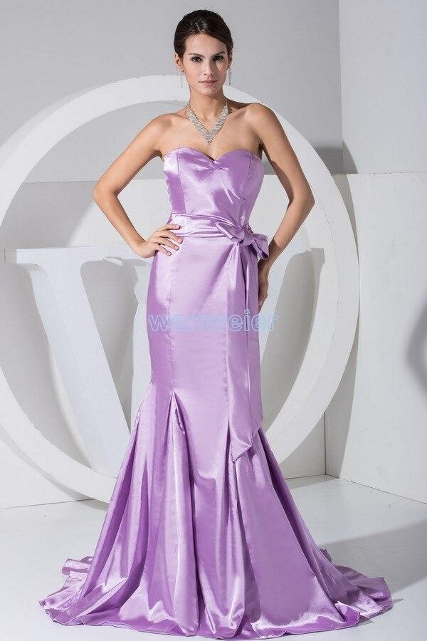 Livraison gratuite chaude sexy nouveau design longs vestidos formales robes de soirée violet personnalisé femmes chérie robe de soirée sirène