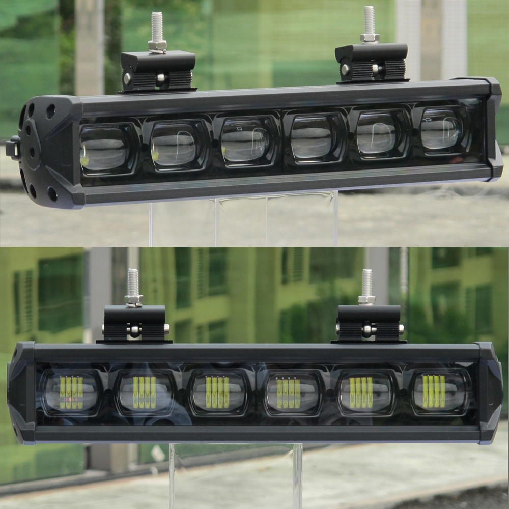 Image 2 - 6D Lens 30W 60W 120W 210W Single Row Led Light 4x4 Offroad Bar For Off road 4WD Truck ATV 12V 24V Trailer Waterproof Work Lights-in Light Bar/Work Light from Automobiles & Motorcycles
