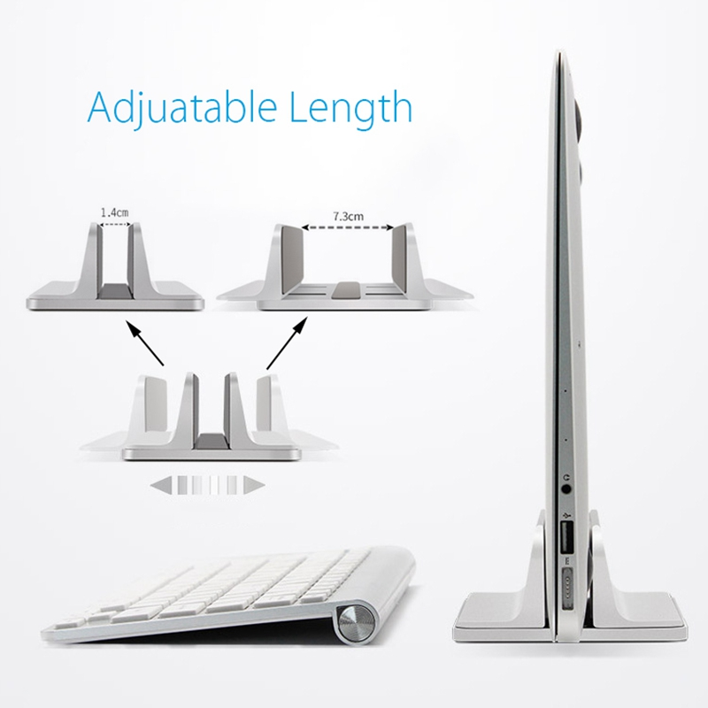Aluminum Vertical Laptop Stand Desktop Space Saving Holder for MacBook Pro Notebook New design laptop stand Holder Mount For
