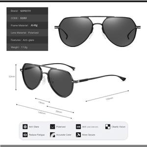Image 3 - آل ملغ اللونية الاستقطاب المعادن الطيار النظارات الشمسية ، الرجال تلون القيادة النظارات الشمسية ، ومكافحة وهج الذكور نظارات شمسية S163