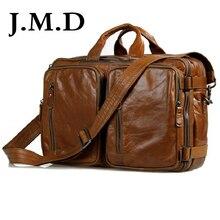 J.M.D 100% Guarantee Genuine Leather Travel Bag Briefcase Handbag Laptop Bag Shoulder Messenger Bag For Men 7014