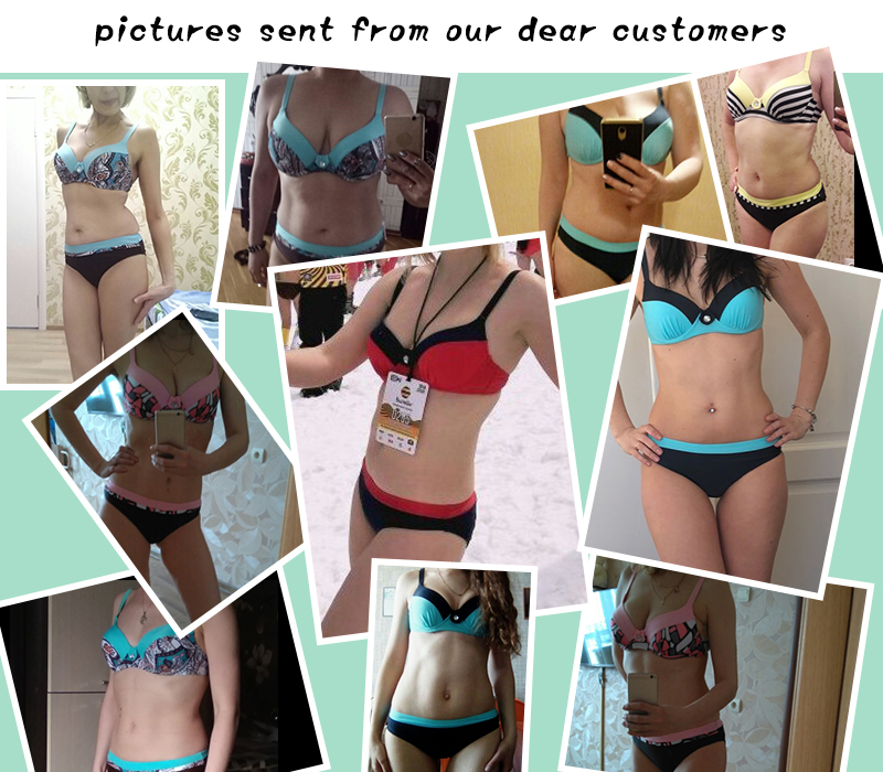 2018 Sexy Bikini Push Up Women Swimsuit Print Top biquini Brazilian bikinis Set Swim Bathing Suit Girl Beachwear Female Swimwear 5