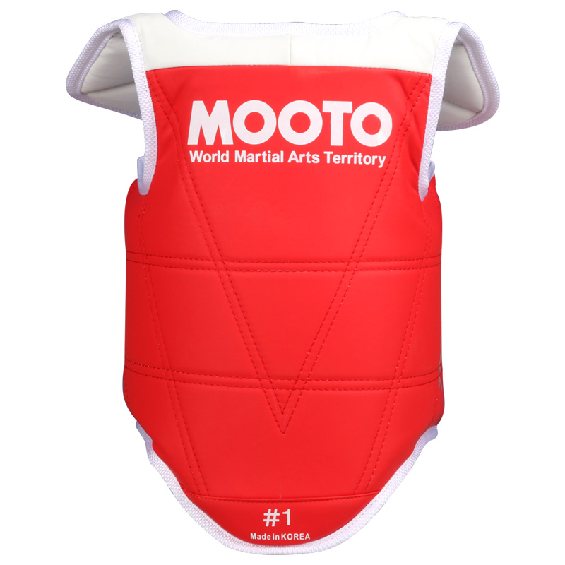 Mooto TaeKwonDo Red Blue Chest Guard Vest Protector Body Gear WTF KTA Approved Chest Protector Adult Kids TKD Protector Guards taekwondo protective gear set wtf hand chest protector foot shin arm groin guard helmet 8pcs children adult taekwondo karate set