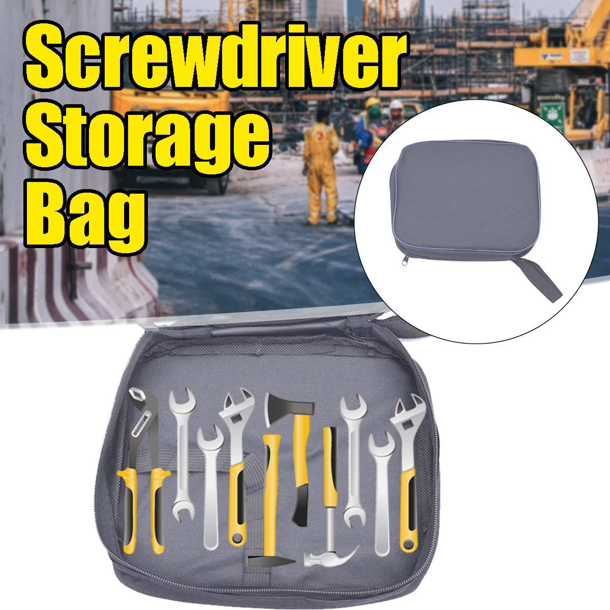 21x23x3cm Tool Bag Screwdriver Nuts Drill Repair Tools Zipper Storage Bag Box Hardware Accessories Tool Case Multimeter Pouch
