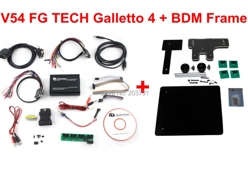Latest Version V54 FGTech Galletto 4 Master BDM-TriCore-OBD Function FG Tech ECU Programmer + Multi-langauge With BDM Frame best quality fg tech v54 auto ecu chip tuning programmer fgtech galletto 4 v54 master bdm obd multi languages free ship