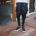 New korean trend men women skirt pants street fashion splice fake 3 pieces trousers male harem pants mens casual pant K905