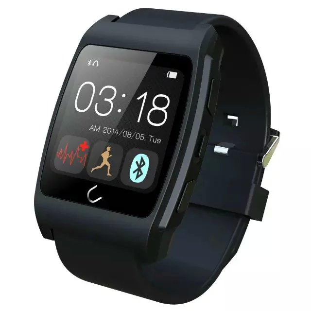 ФОТО Uwatch UX Sport Bluetooth Heart Rate Monitor Smart Watch for IPhone ISO Android With Compass Pedometer Connected Smartwatch