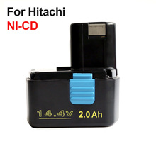 Rechargeable Power Tool Batterie pour Hitachi 14.4 V 2000 mAh NI-CD EB1414S EB1412S, EB1414, EB1414L, EB1414S C-2, CJ14DL, DH14DL