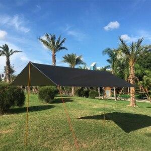 Image 4 - 3 m x 3 m ชายหาด Sun Shelter Tarp เต็นท์กันน้ำ Shade UV Ultralight Garden หลังคากันสาดกลางแจ้ง Camping hammock Rain Fly