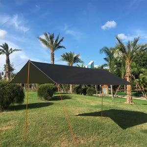 Image 4 - 3mx3m Beach Sun Shelter Tarp Waterproof Tent Shade Ultralight UV Garden Awning Canopy Sunshade Outdoor Camping Hammock Rain Fly