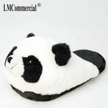 Katoen Pluche Speciale Indoor Zachte Panda Schoenen Mannen & Vrouwen Slippers Custom Slipper Cottoon Slipper Vloer Liefhebbers Schoenen Winter Warm(China)