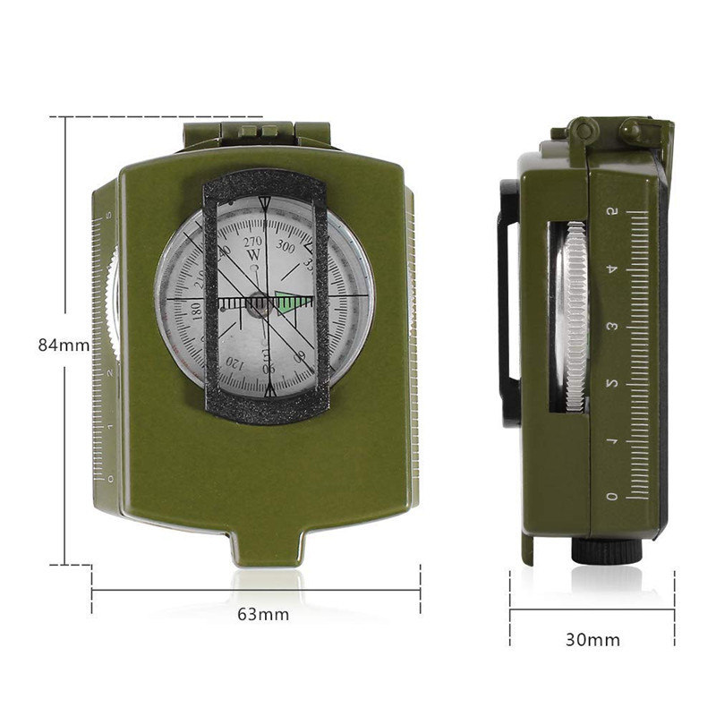 Outdoor Waterproof Survival Military Compass Hiking Camping Army Pocket Military Lensatic Compass Handheld Military Equipment09