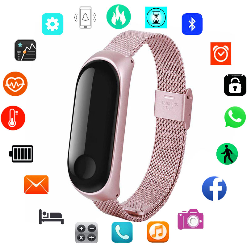Luxury Smart Watch Women Men For Android IOS Smartwatch Fitness Tracker Electronics Smart Clock New Stainless Steel Smart-watch(China)