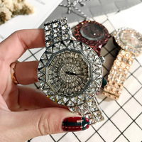 Luxury Women's watches Brand Women Watches Rhinestones Stainless Steel Rose Gold Quartz Wristwatch Fashion Clock Ladies Watch