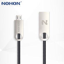 Original NOHON Micro USB Cable Metal Phone Fast Charger Data Sync Cable Wire For Samsung Xiaomi Lenovo LG Nokia Sony Android