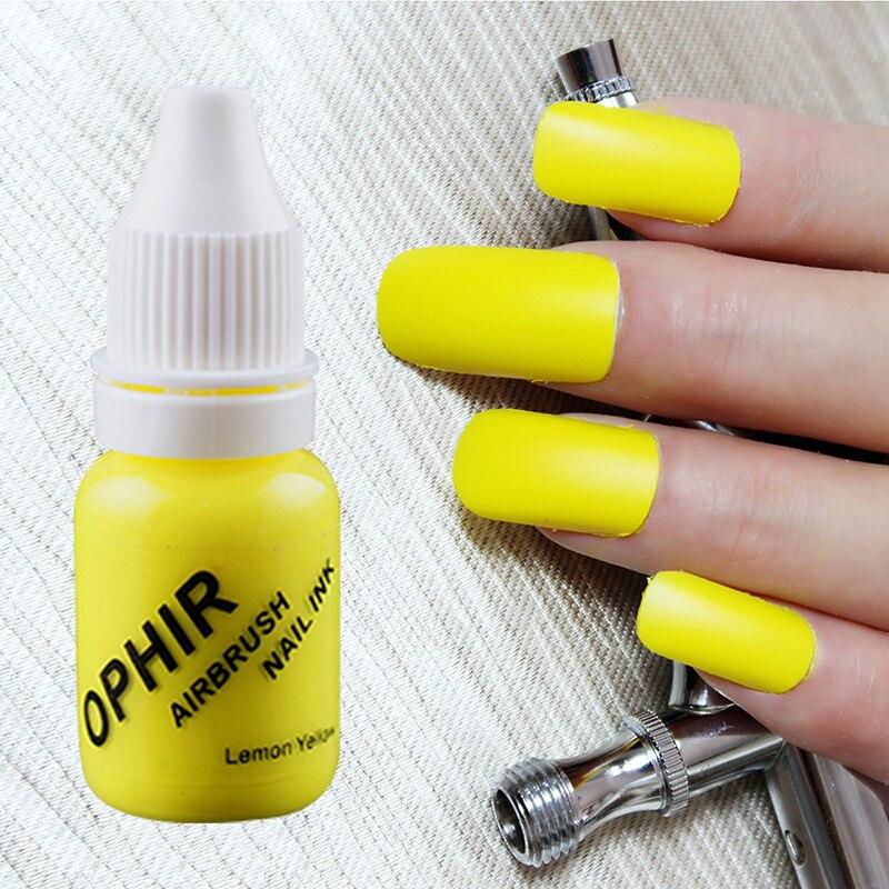 OPHIR PRO 12 colori Inchiostri per unghie per aerografo 10 ML / - Accessori per elettroutensili - Fotografia 6