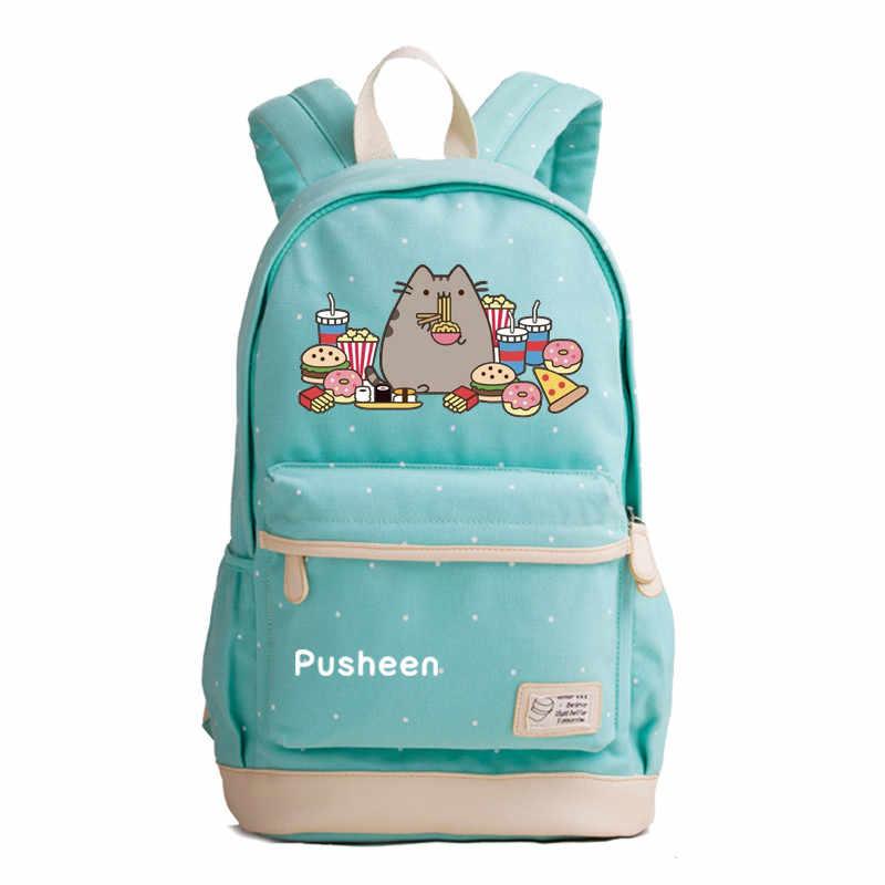 Kimikoy Fat Cat Рюкзак Единорог точечная волновая печать сумка для ноутбука школьная сумка дорожные сумки, рюкзак-однодневка для подростков