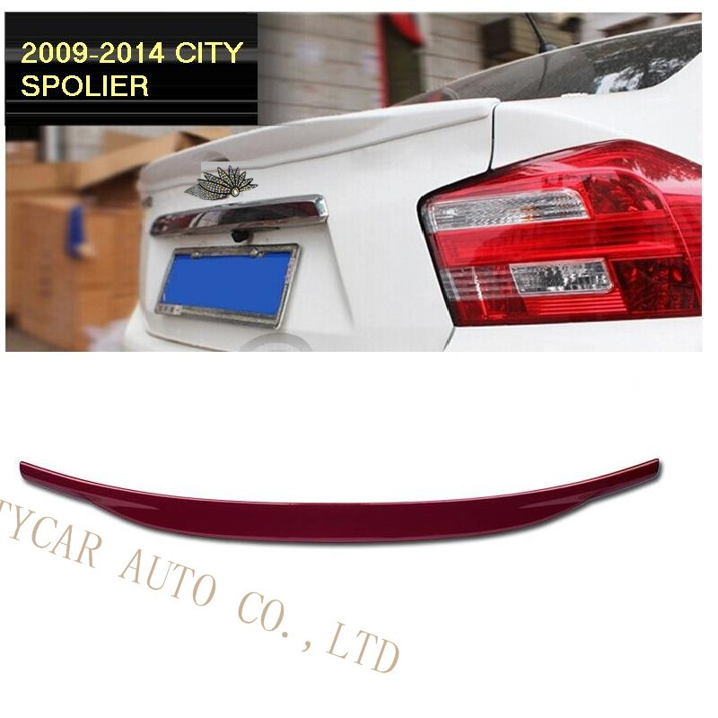 CAR ACCESSORIES CAR SPOILER ports Grade Intensity Twist ABS Spoiler Wings fit For City 2009-2014 CAR