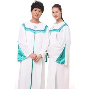 Христианская Церковь хоровое пение одежда одежда женская Кристиан высокое качество халат костюмы Европейские и США церкви одежды