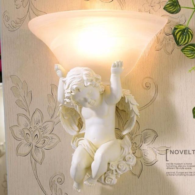 Europese art hars Muur lampen led lampen woonkamer decoratie beige ...