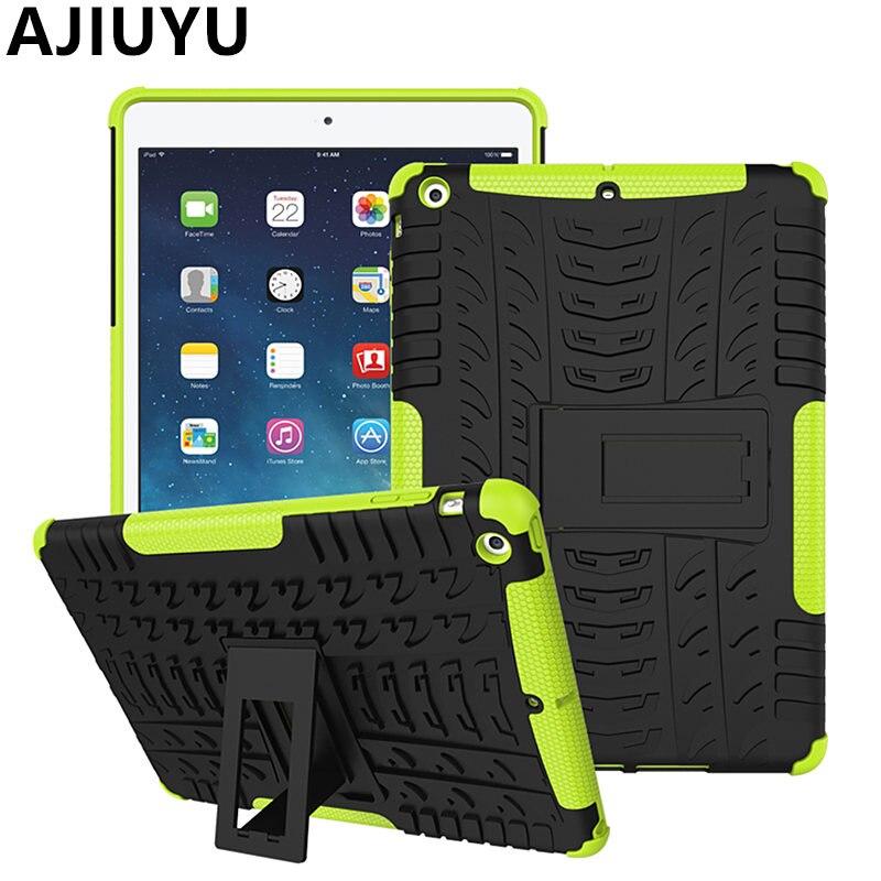 Ajiuyu для iPad Чехол Air Case 9.7 дюймов air1 ТПУ Панцири противоударный Heavy Duty кремния Чехол PC чехол Smart защитная оболочка