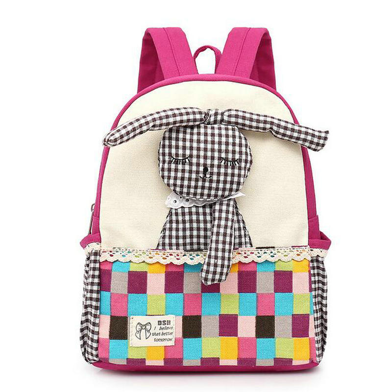 Loveing Cartoon Canvas childrens bags kindergarten small class girls baby princess backpack 3-6 years old child schoolbags