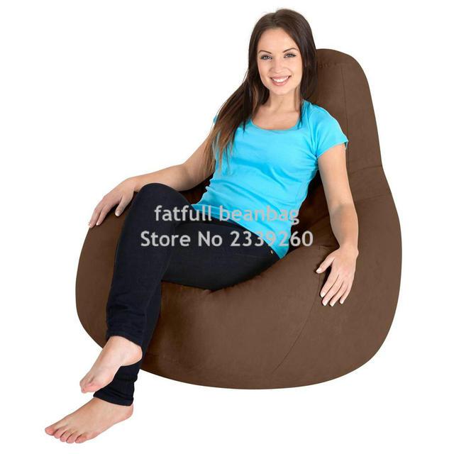 Cobrem apenas No Filler-Marrom portátil assento do sofá, cadeira beanbag ao ar livre