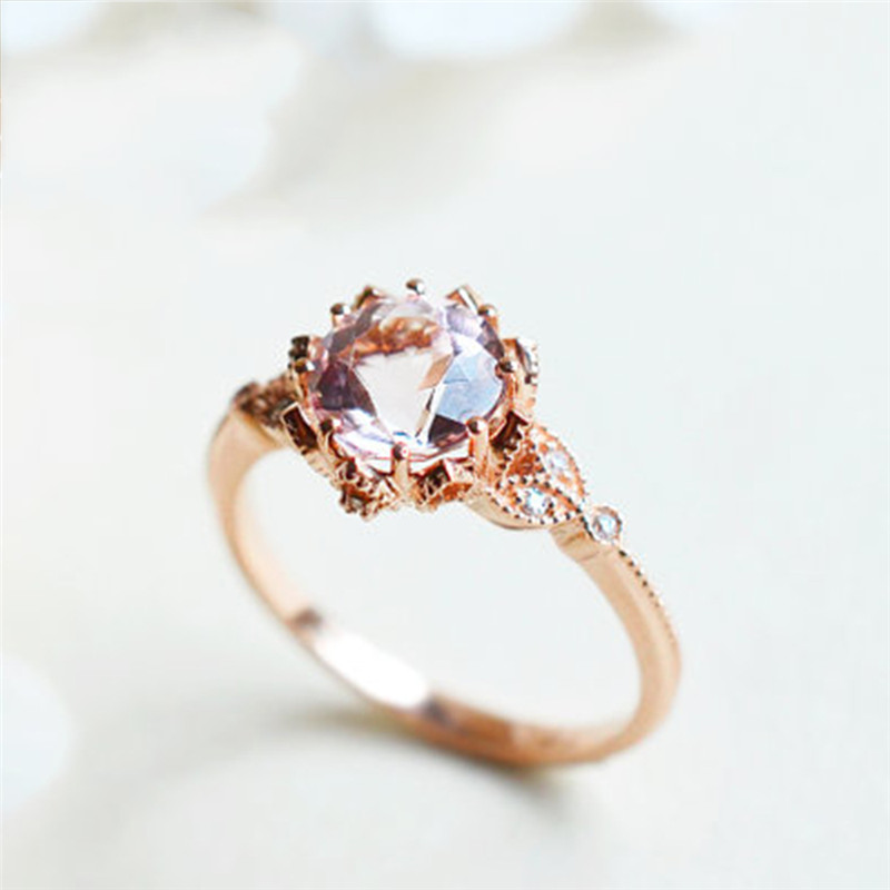 Wedding & Engagement Jewelry Jewelry & Accessories Delicious Romad Moonstone Ring For Women Wedding Finger Ring Leaf Cz Engagement Ring Fashion Rose Gold Ring Retro Jewelry R4