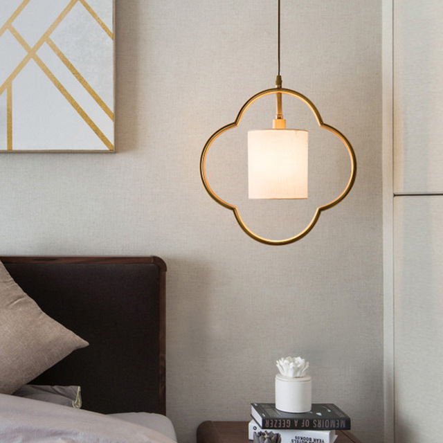New Chinese Antique Copper Lamp Small Pendant Lights Bedroom Bedside Zen Style Restaurant Simple Modern Lamps