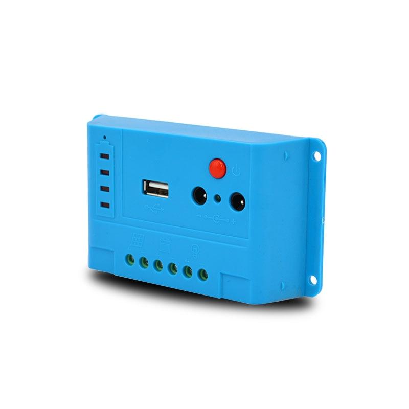 10pcs/lot Smart Solar Charge Controller 5A 12V/24V PWM Solar Regulator LED USB 5V 1A Charge Controller