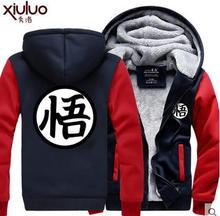 Hot New Dragonball Hoodie Son Goku Sun Wukong Winter Fleece Mens Sweatshirts Free Shipping