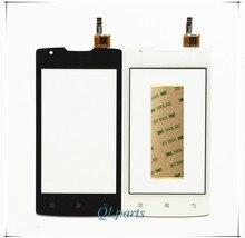 4.0 pouce Téléphone portable Tactile Panneau Écran Tactile Pour Lenovo A1000 Smartphone Écran Tactile Digitizer Façade En Verre Capteur Avec Autocollants