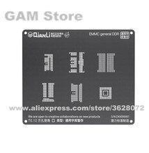 QIANLI iBlack 3D BGA Stencil Cho EMMC DDR BGA221 153 169 254 162 186 Reballing Chân 6 trong 1 Nhiệt bản mẫu Tín Vật Có Hoa Lưới