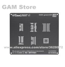 QIANLI iBlack 3D BGA Stencil For EMMC DDR BGA221 153 169 254 162 186 Reballing Pins 6 in 1 Heat Template Tin Plant Net