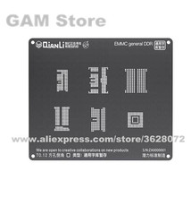 QIANLI iBlack 3D Bga のステンシル EMMC DDR BGA221 153 169 254 162 186 を Reballing ピン 6 で 1 熱テンプレート錫植物ネット