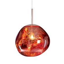 Średnica 27 CM Stopu Mini lampa wisząca szklana kulka + darmowa wysyłka