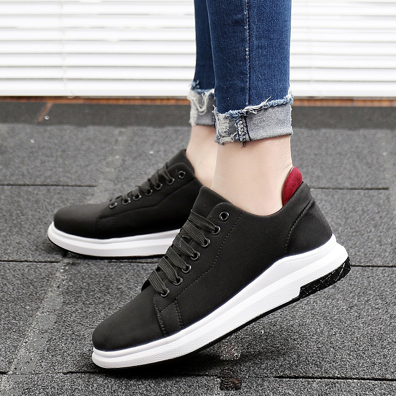 CBJSHO Wedges Sneaker Women s Casual Flats Shoes Low Style Patchwork Canvas Shoes  Lace Up Vulcanize Platform Shoes for Woman-in Women s Vulcanize Shoes from  ... 6ba5e0bc3c99